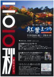 梅小路公園 紅葉まつり開催中です 11月26日(金)・27日(土)・28日(日)の3日間のイメージ