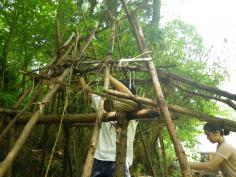 『竪穴式住居をリニューアル!』 自然あそび教室のイメージ